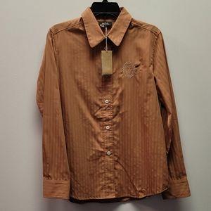 A.P.C. Orangebrown Long Sleeve Button up shirt